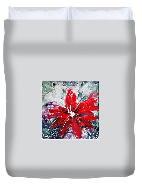 RED BEAUTY Duvet Cover by TERESA WEGRZYN