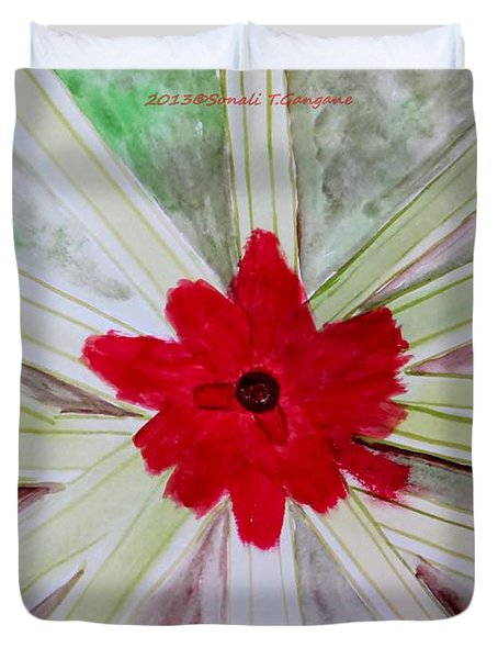Red Brilliance Duvet Cover by Sonali Gangane