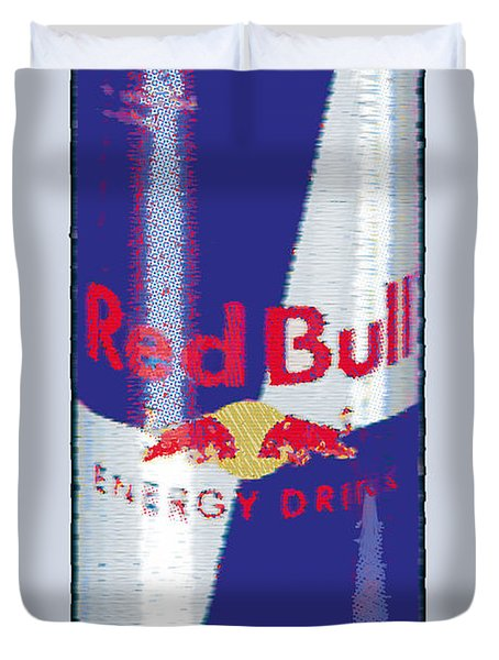 Red Bull Ode To Andy Warhol Duvet Cover by Tony Rubino