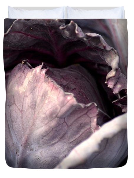 Red Cabbage Duvet Cover by Maria Urso