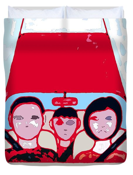Red Car Duvet Cover by Patrick J Murphy