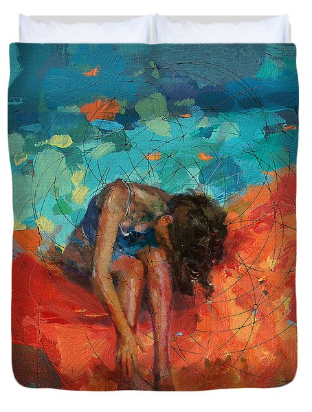 Red Cloud Duvet Cover by Corporate Art Task Force