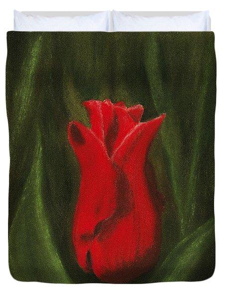 Red Elegance Duvet Cover by Anastasiya Malakhova