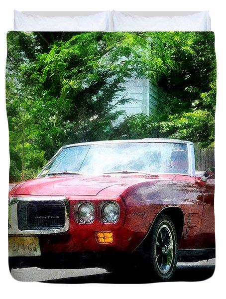 Red Firebird Convertible Duvet Cover by Susan Savad