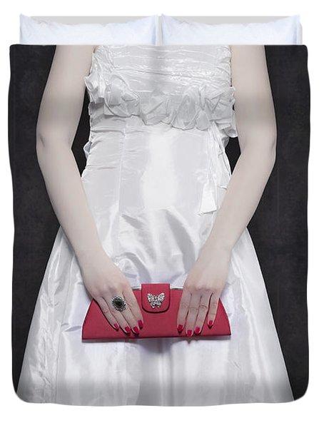 Red Handbag Duvet Cover by Joana Kruse