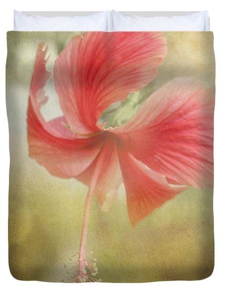 Red Hibiscus Duvet Cover by David and Carol Kelly