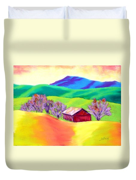Red Hill Barn Duvet Cover by Nancy Jolley