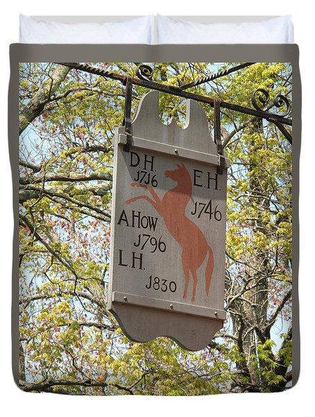Red Horse Prances Duvet Cover by Barbara McDevitt