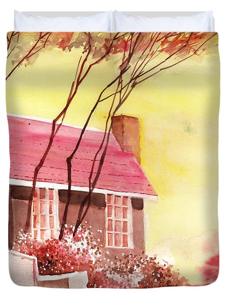 Red House R Duvet Cover by Anil Nene