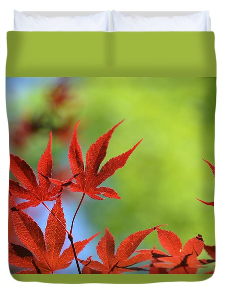 Red Leaf Duvet Cover by Eiwy Ahlund