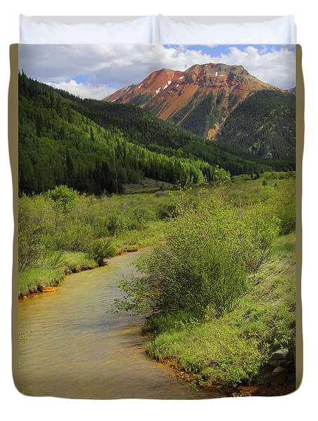 Red Mountain Creek - Colorado  Duvet Cover by Mike McGlothlen