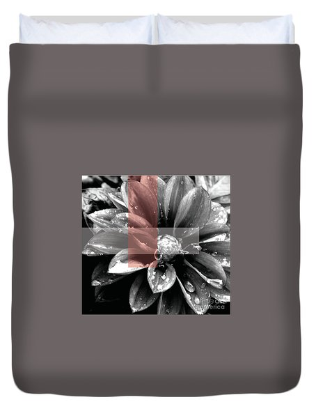 Red Rain Blossom Duvet Cover by Jamie Lynn