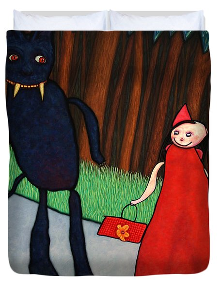 Red Ridinghood Duvet Cover by James W Johnson