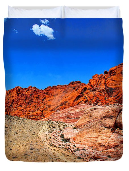 Red Rock Canyon Duvet Cover by Mariola Bitner