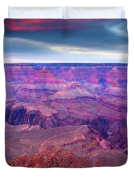 Red Rock Dusk Duvet Cover by Mike  Dawson