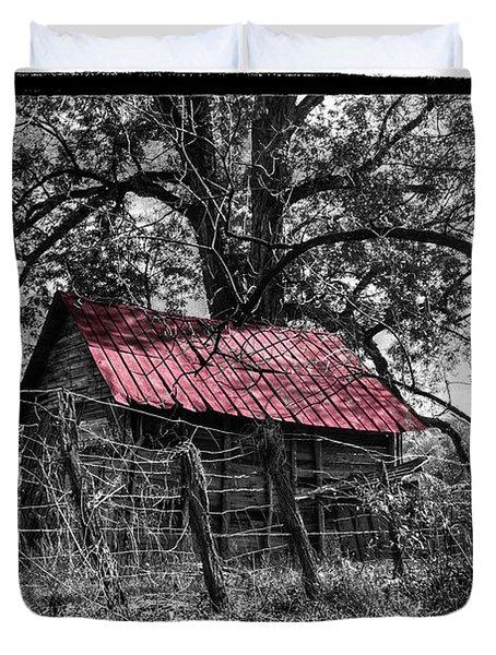 Red Roof Duvet Cover by Debra and Dave Vanderlaan