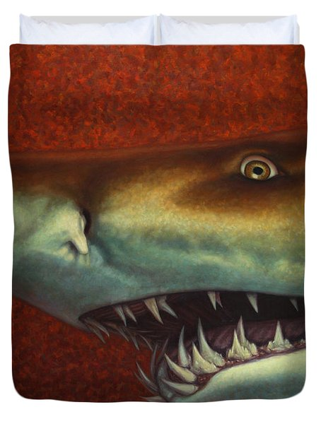 Red Sea Shark Duvet Cover by James W Johnson