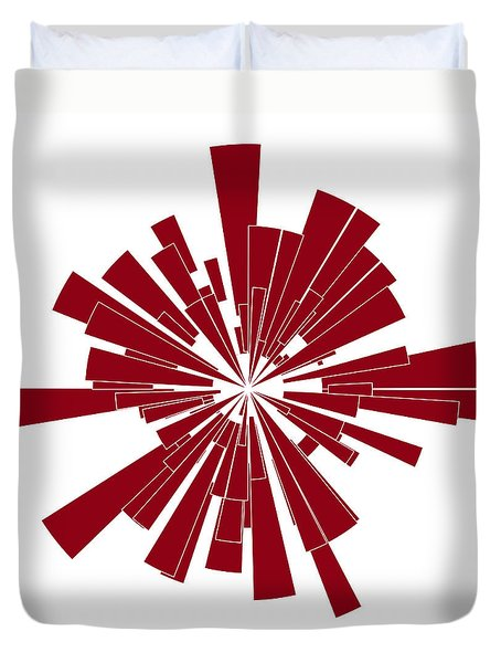 Red Shape Duvet Cover by Frank Tschakert