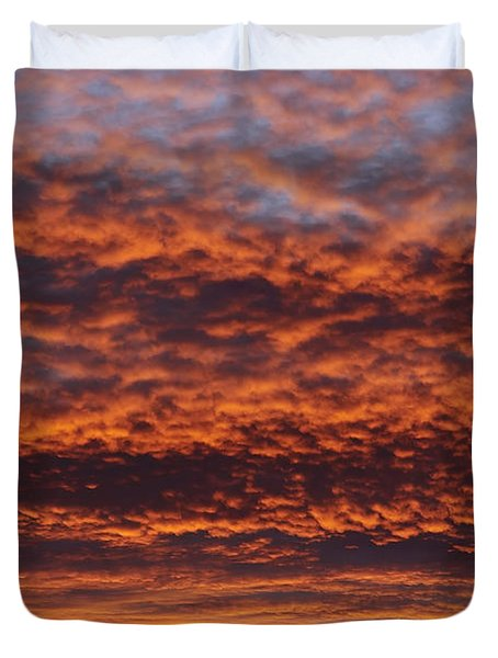 Red Sky Duvet Cover by Michal Boubin