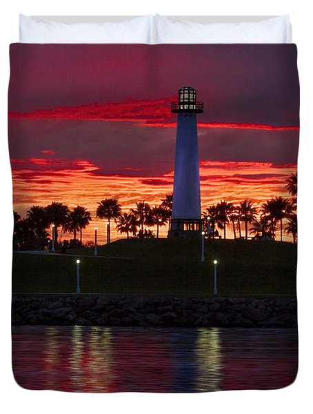 Red Skys At Night Denise Dube Photography Duvet Cover by Denise Dube