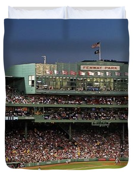 Red Sox And Fenway Park  Duvet Cover by Juergen Roth