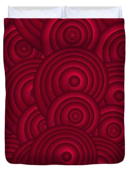 Red Swirls Duvet Cover by Frank Tschakert