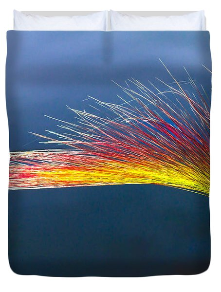 Red Tipped Grass Duvet Cover by Robert Bales