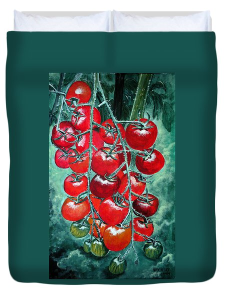 Red Tomatos Duvet Cover by Huy Lee