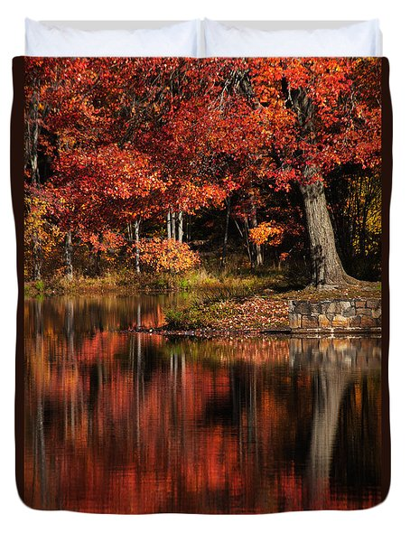 Red Tree Duvet Cover by Karol Livote