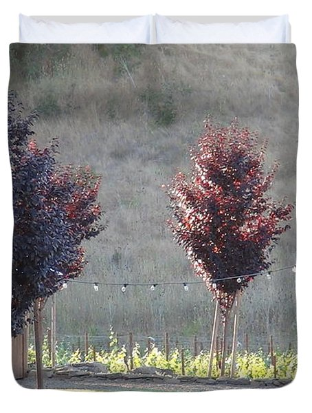 Red Tree's Duvet Cover by Shawn Marlow