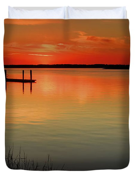 Red Water Duvet Cover by Phill Doherty