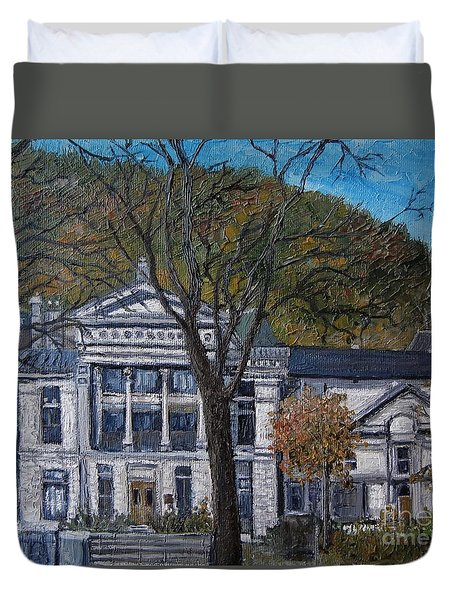 Redpath Museum Duvet Cover by Reb Frost