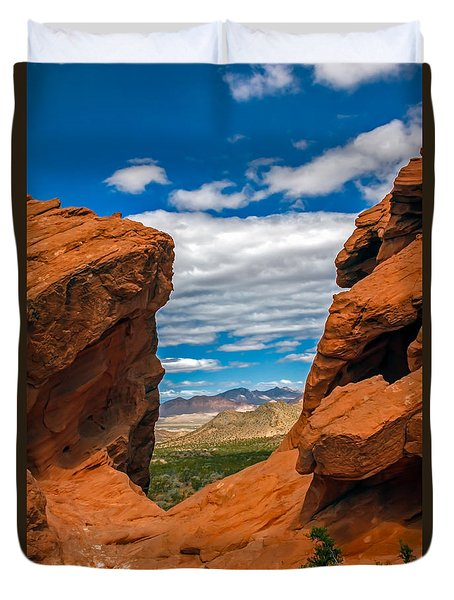 Redstone Duvet Cover by Robert Bales