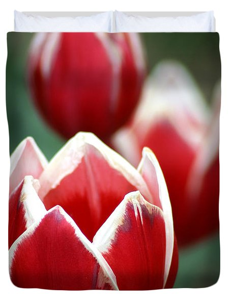 Redwhitetulips6838 Duvet Cover by Gary Gingrich Galleries