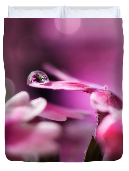 Reflecting On Pink Duvet Cover by Lisa Knechtel