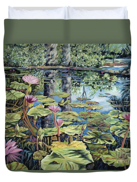 Reflecting Pond Duvet Cover by Danielle  Perry