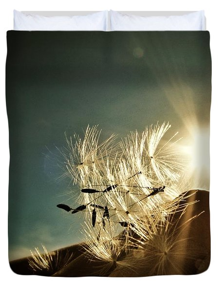 Reflection Of The Sun Duvet Cover by Marianna Mills