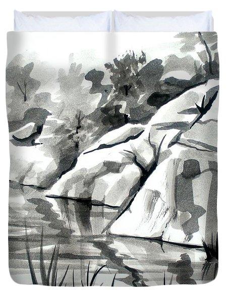 Reflections At Elephant Rocks State Park No I102 Duvet Cover by Kip DeVore