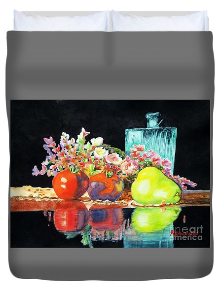 Reflections In Color Duvet Cover by Kathy Braud