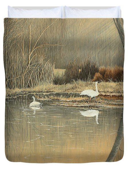 Reflections Duvet Cover by Mary Ann King