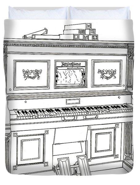 Regina Player Piano Duvet Cover by Ira Shander