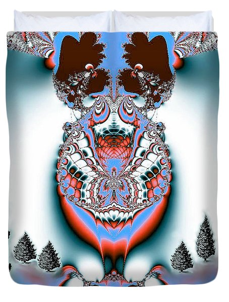 Reindeer Blues Duvet Cover by Maria Urso