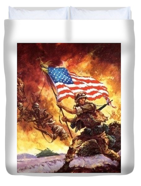 Remember Our Veterans Duvet Cover by M and L Creations