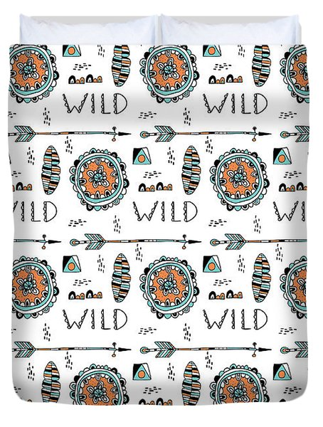 Repeat Print - Wild Duvet Cover by Susan Claire