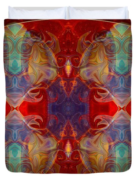 Repeating Realities Abstract Pattern Artwork By Omaste Witkowski Duvet Cover by Omaste Witkowski