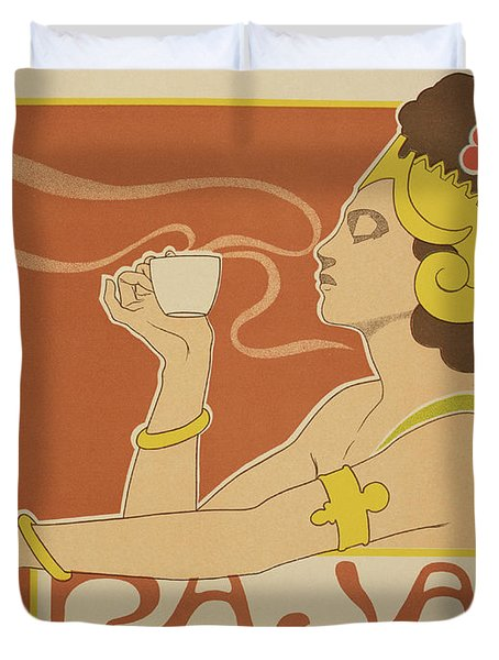 Reproduction Of A Poster Advertising The 'cafe Rajah' Duvet Cover by Henri Georges Jean Isidore
