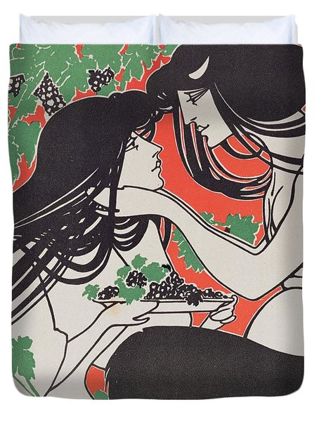 Reproduction Of A Poster Advertising 'when Hearts Are Trumps' By Tom Hall  Duvet Cover by William Bradley