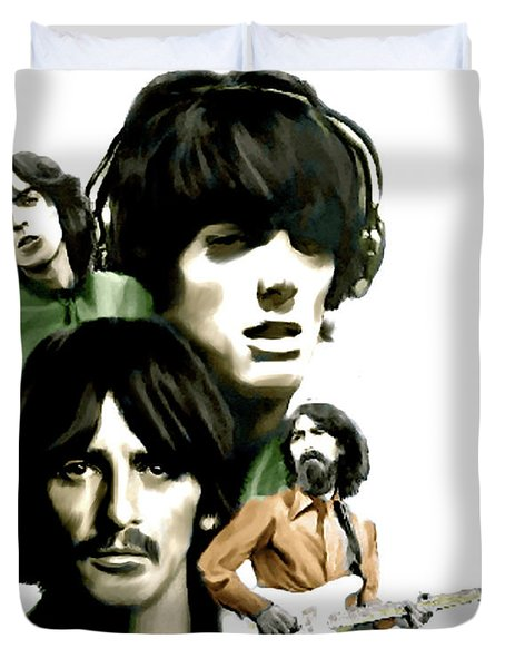 Requiem George Harrison Duvet Cover by Iconic Images Art Gallery David Pucciarelli