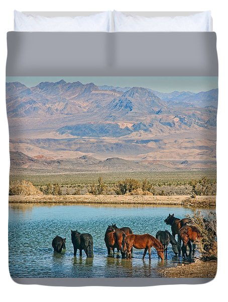 Rest Stop Duvet Cover by Tammy Espino