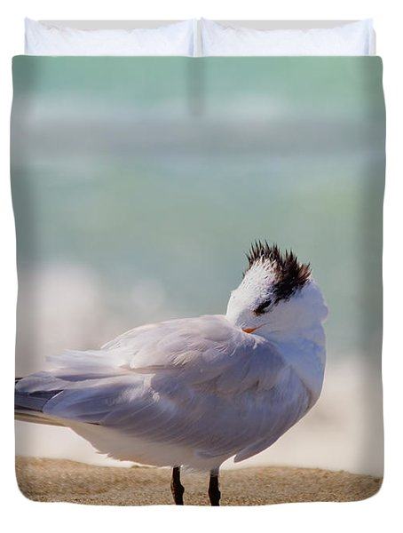Resting at the Beach Duvet Cover by Kim Hojnacki